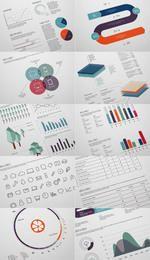 Elegante paquete de diseño infográfico