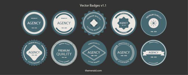 Round Shaped Badge & Label Set