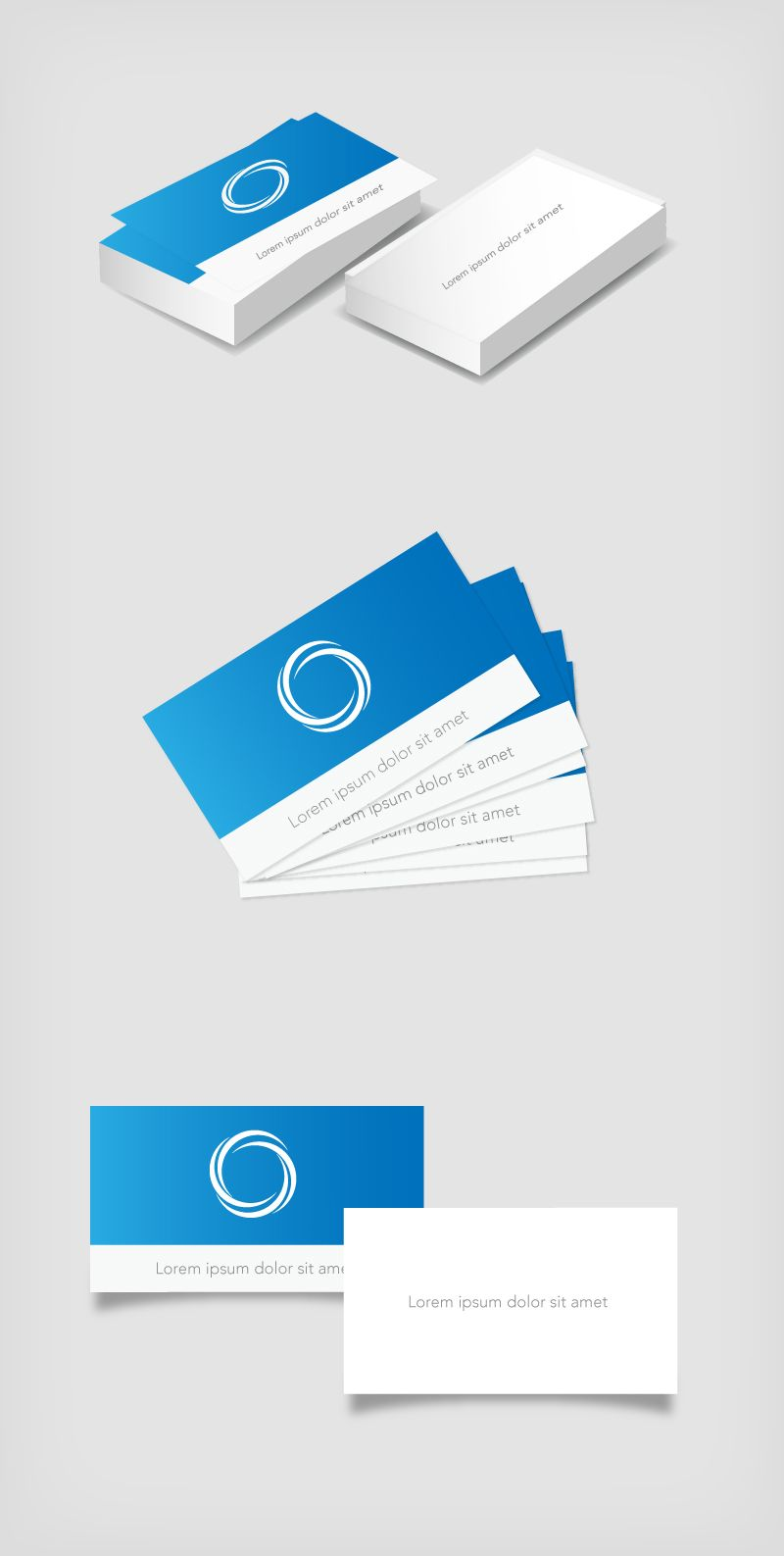 Classic Business Card Mockup - Vector download