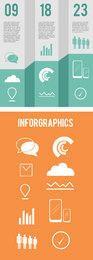 Plantilla de infografía triple