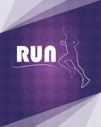 Running Logo on Checker Pattern