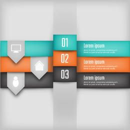 Creative Colorful 3D Layered Infographic