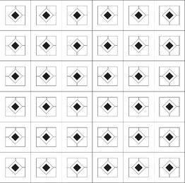 Minimal Diamond Pattern with Squares