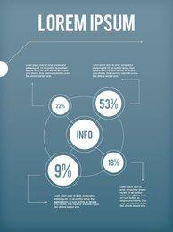 Weißer kreisförmiger Infographik-Plan