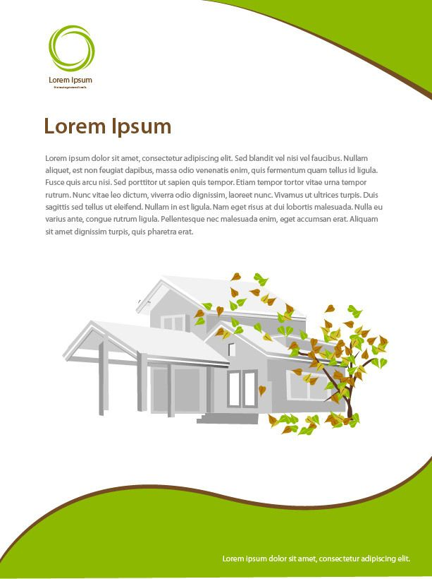 Beautiful real estate leaflet template vector download Beautiful real estate pictures
