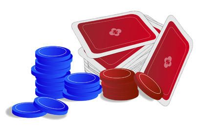 Casino Poker Game Chips & Cards