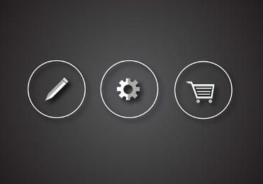 Glossy Silver 3 Web Icons