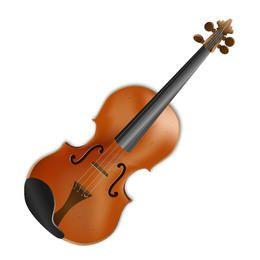 Violino acústico de 4 cordas realista