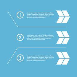 Numeración del párrafo infográfico con flechas
