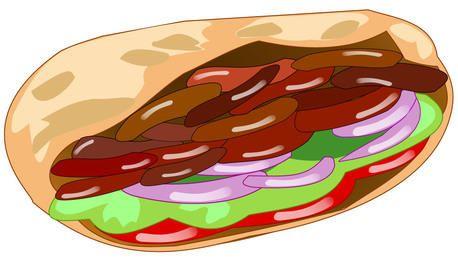 Funky abstraktes Döner-Kebab