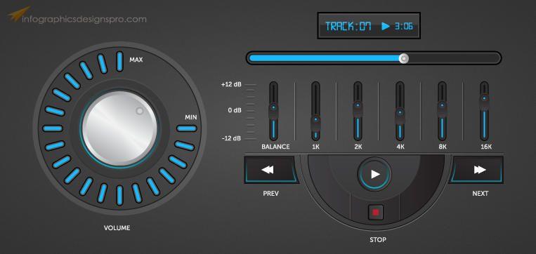 Elegant Music Player Interface