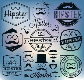 Hipster Vintage Label Pack