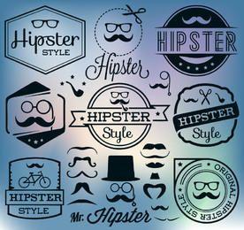 Pacote de Etiquetas Vintage Hipster