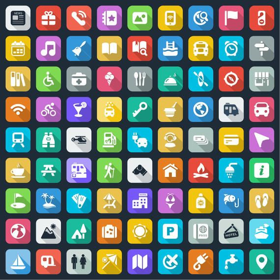Long Shadowed Large Icon Pack