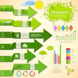 Pack de infografías ecología verde