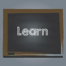 Grungy Torn Edge Chalkboard Text