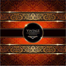 Colorful Vintage Damask Ornate Background