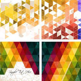 Polígono Triangular Abstrato Fundos Coloridos
