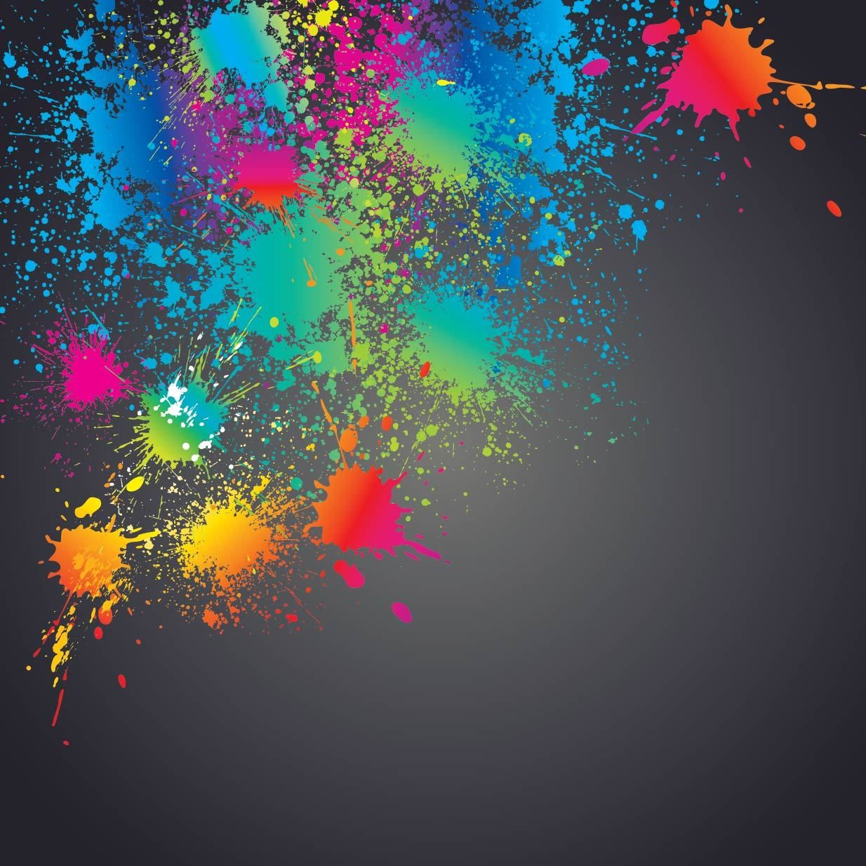Colorful Splashed Paint Splatter Background - Vector download