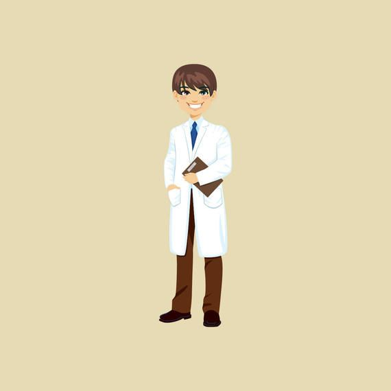 Female Doctor Cartoon Character