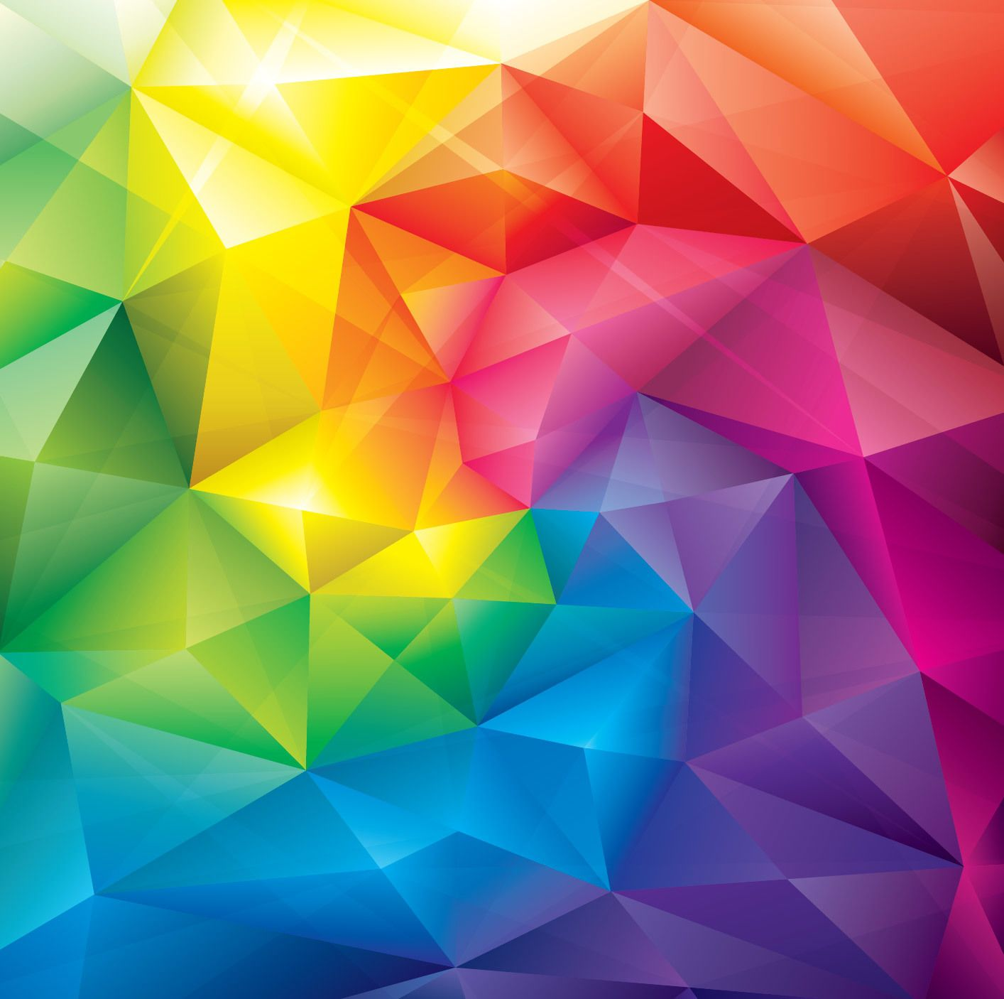 Purple Polygonal Abstract Background: Colorful Crystal Polygonal Background