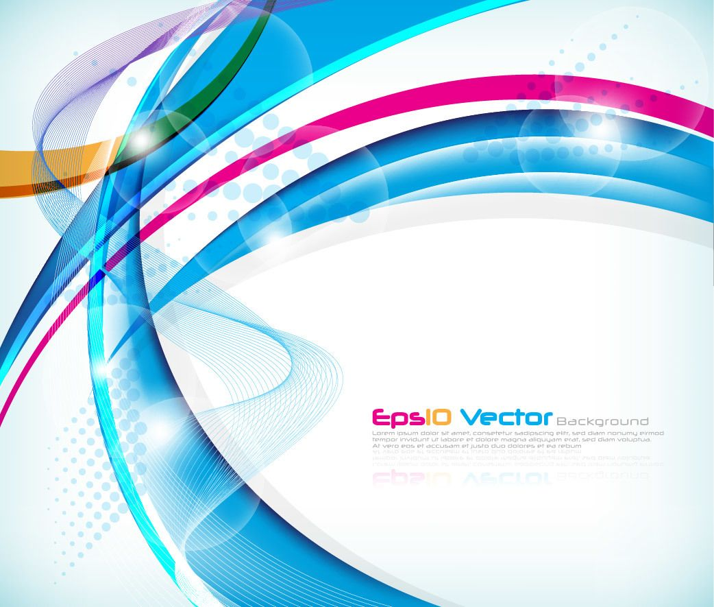 Modern Background Vector Graphic: Colorful Abstract Waves Modern Background