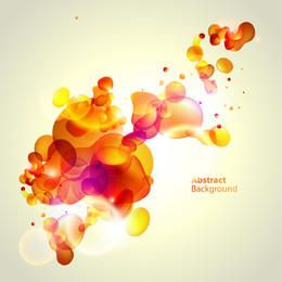 Fluorescent Colorful Bubbles Orangey Background