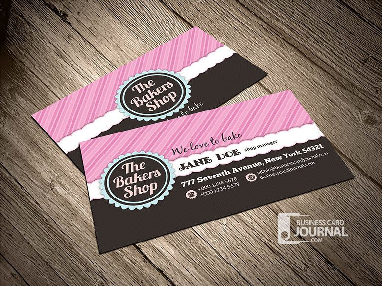 The bakers shop business card vector download by business card journal colourmoves