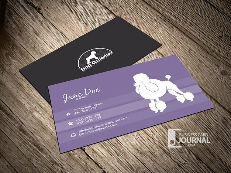 simple dog groomer business card - Dog Grooming Business Cards