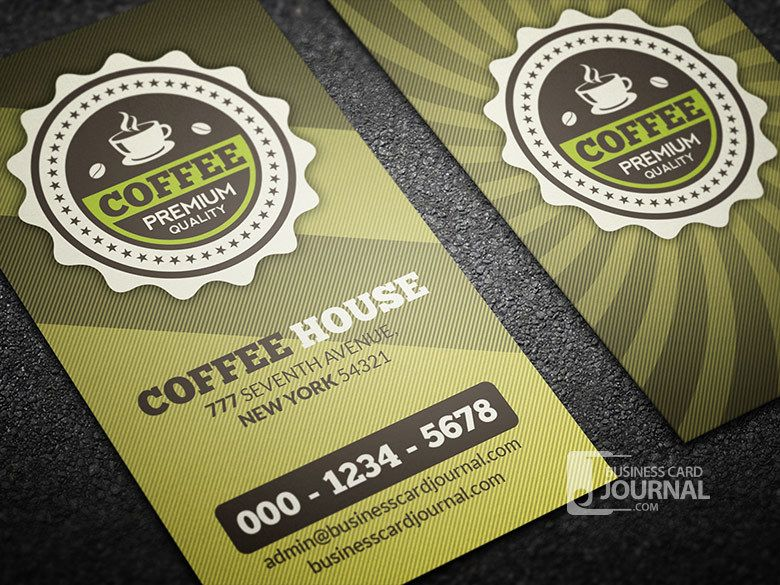 Retro coffee shop business card vector download image user colourmoves Images