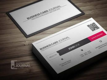 QR Code Corporate Business Card