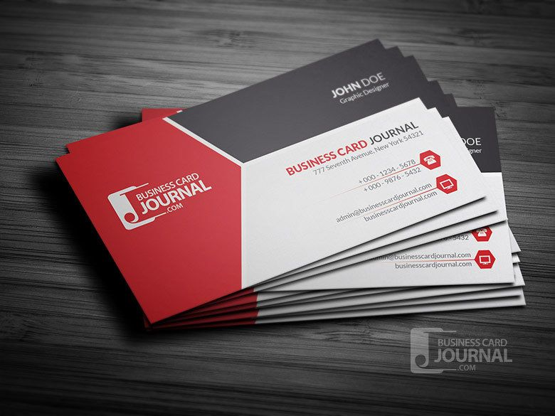 Tricolor Modern Corporate Business Card Vector Download - Professional business card design templates