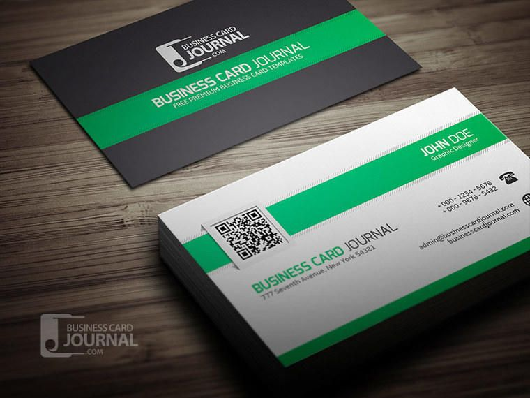 Stylish business card with qr code vector download stylish business card with qr code reheart Choice Image