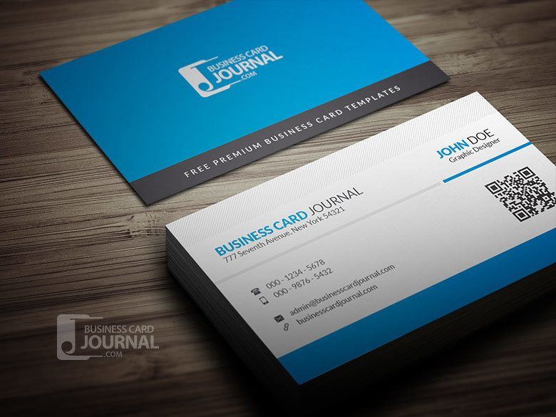 Corporate qr code business card vector download by business card journal colourmoves