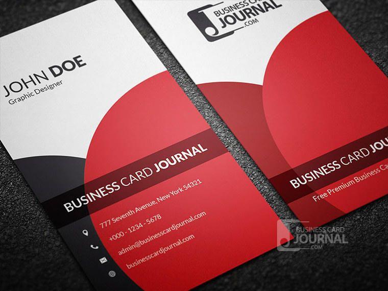 Classy Elegant Vertical Business Card Vector Download