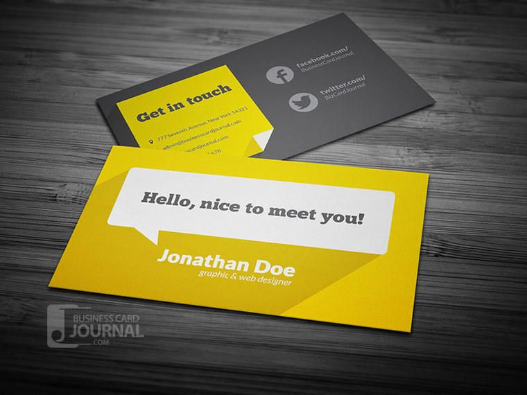 Flat cloud bubble business card vector download flat cloud bubble business card colourmoves