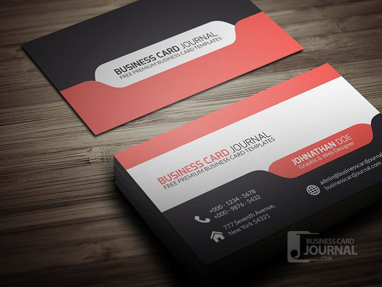 Stylish modern business card with tab vector download by business card journal reheart Choice Image