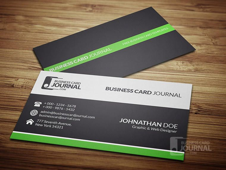 Clean simple corporate business card vector download clean simple corporate business card reheart Images