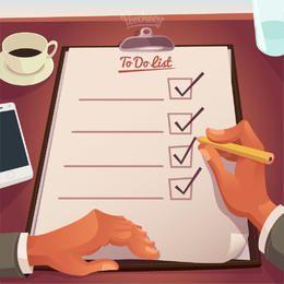Lista de tareas en tablero duro