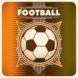 Modelo de Banner abstrato de futebol