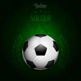 Cartel de fútbol sucio de fondo verde