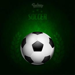 Green Background Grungy Soccer Poster
