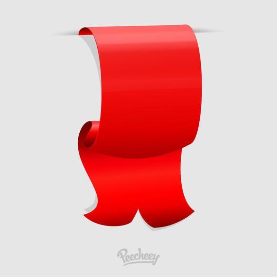 Cinta adhesiva roja doblada con desplazamiento