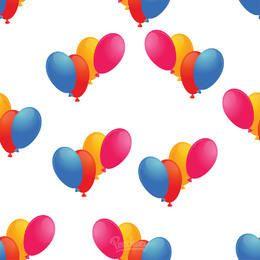 Padrão de balão sem costura simples colorido