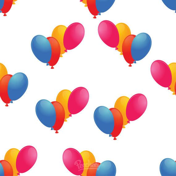 Colorful Simple Seamless Balloon Pattern