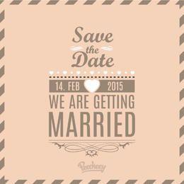 Vintage Abstract Minimal Wedding Invitation