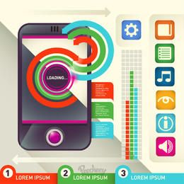 Colorful Infographic with Phone & Icons