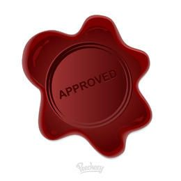Embossing Approved Wax Stamp