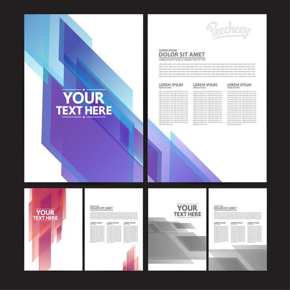 abstract both sided brochure templates