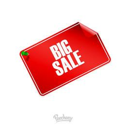 Curly Edge Big Sale Tag